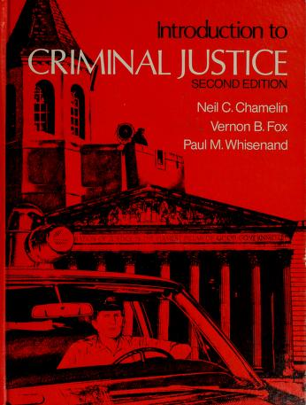 Cover of: Introduction to criminal justice | Neil C. Chamelin